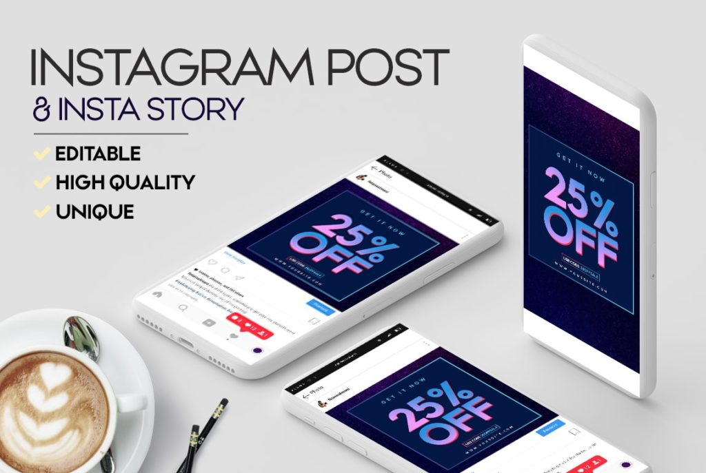 Free Instagram Sale Banner Template (Story & Post)