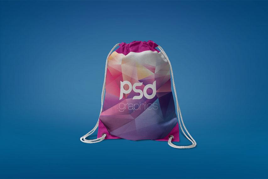 Drawstring Bag Mockup Free PSD